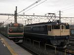 E231系U519編成とEF65 1103