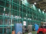 台車立体倉庫と制御盤